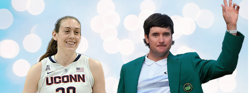Bubba Watson and Breanna Stewart Voted April Athletes of the Month