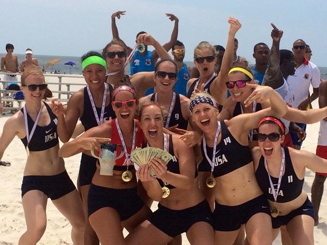 usa women s beach handball wins aobhc united states sports academy