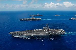 US Navy Ships at Sea