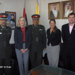 Academy faculty join the Commander of the Bahrain national police in Manama.
