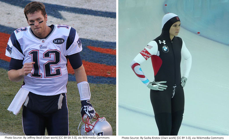Photograph of Tom Brady and Brittany Bowe