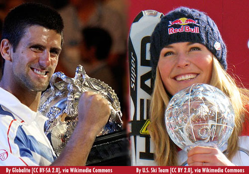 Photo of Novak and Vonn