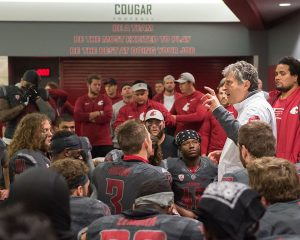 Mike Leach with Team