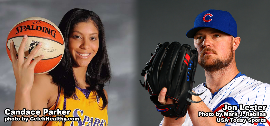 Candace Parker and Jon Lester