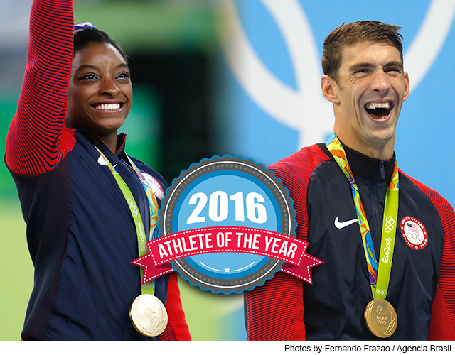 Athletes of the Year - Phelps and Biles