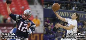 Tom Brady and Kelsey Plum