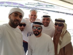 Charles Temple with UAE students