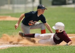 Sliding Player Second Base Action