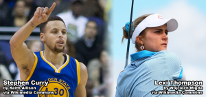 Stephen Curry and Lexi Thompson