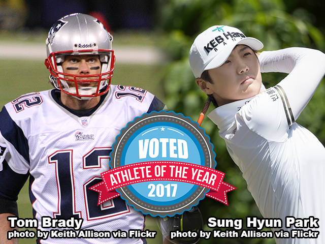 AOY 2017 - Tom Brady and Sung Hyun Park