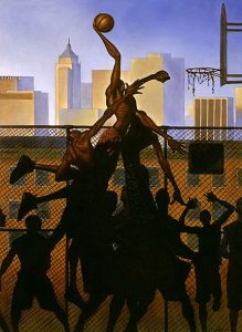 Sky High Basketball/City Heights by Kadir Nelson