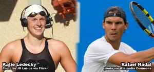 Rafael Nadal and Katie Ledecky