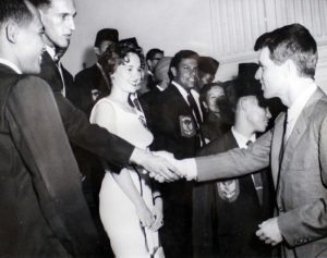 Rosandich with Kennedy