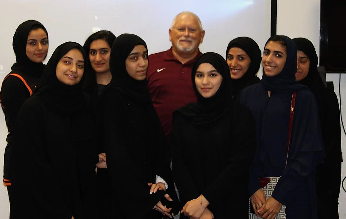 Floyd with Female Students