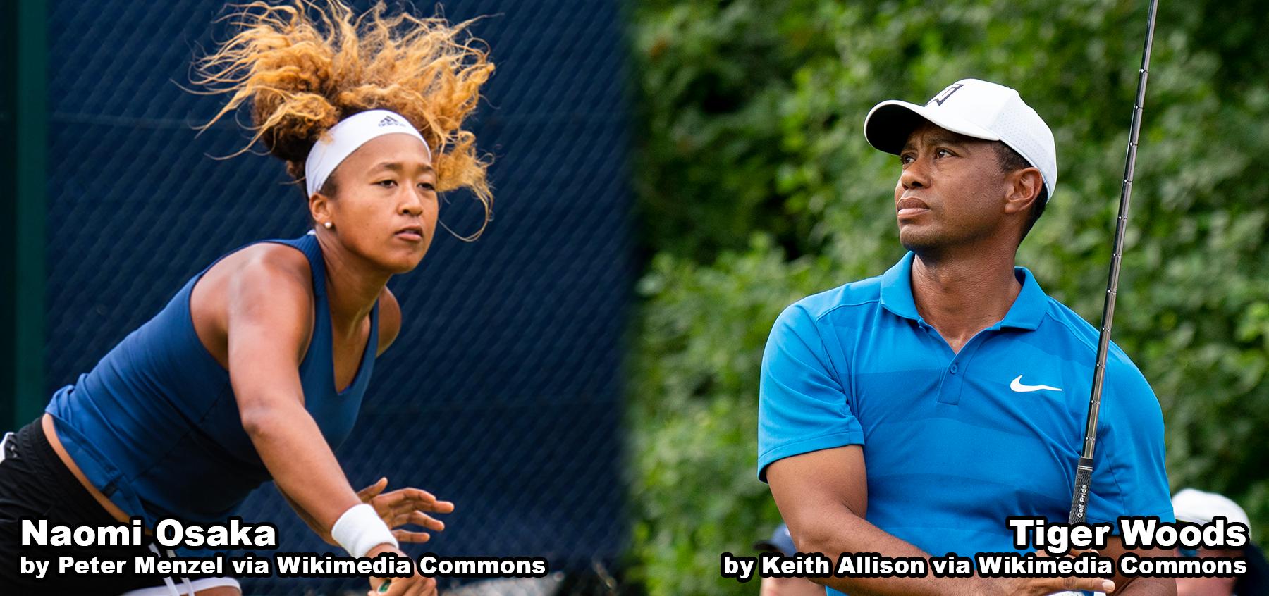 Tigar Woods and Naomi Osaka