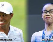 Tiger Woods and Morgan Hurd