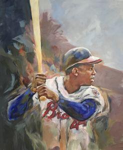 Hammering Hank painting