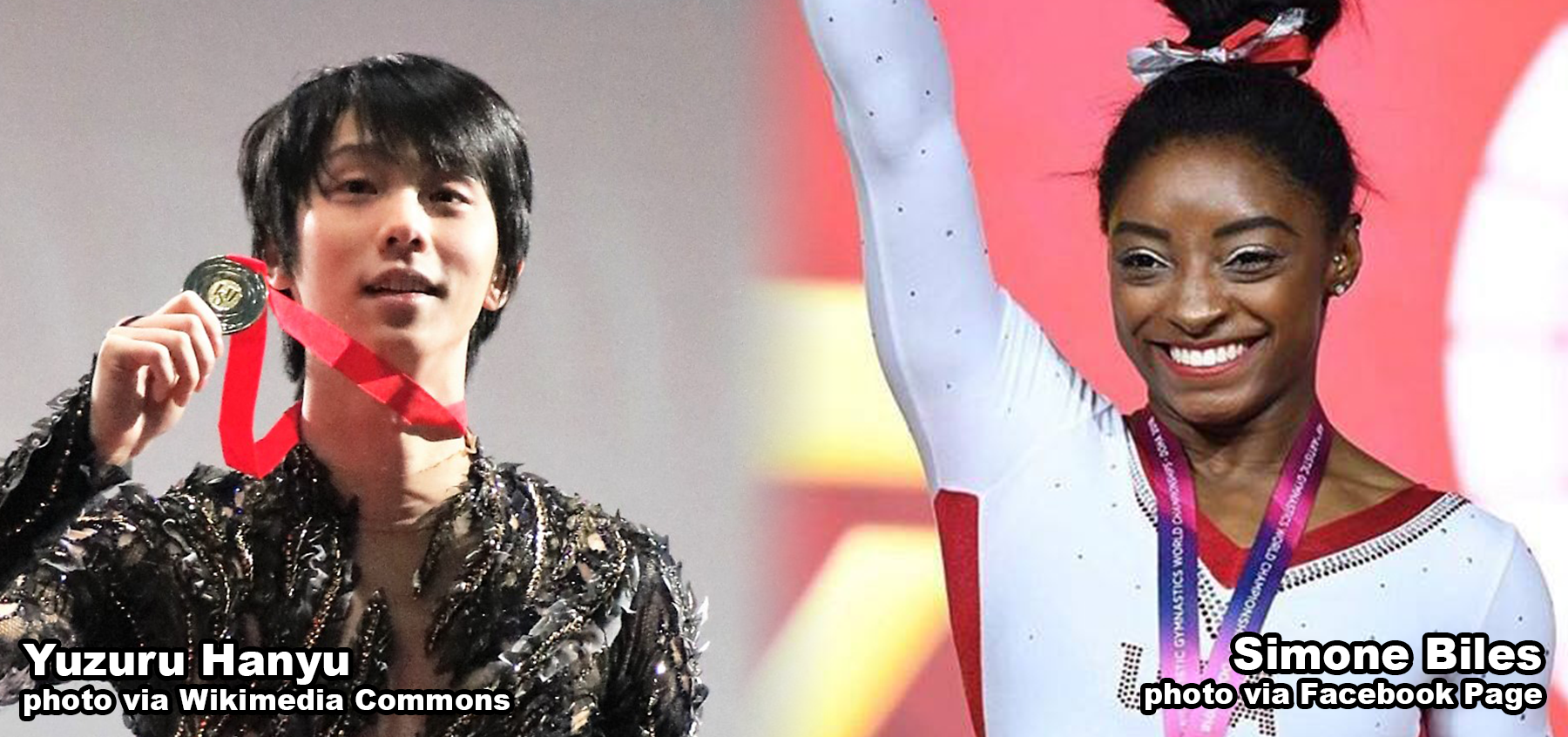 Yuzuru Hanyu and Simone Biles
