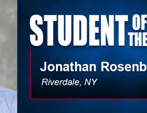Student of the Month Jonathan Rosenberg Thankful for Flexibility of Academy's Doctoral Program