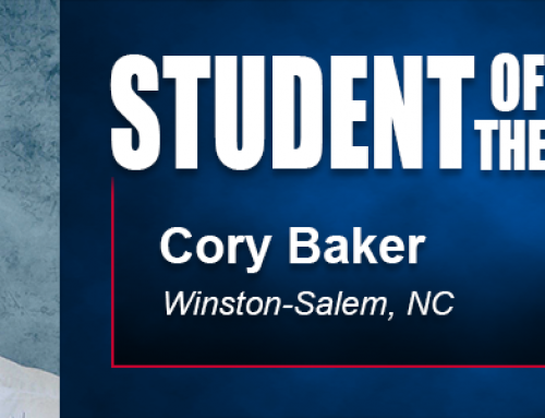 Student of the Month Cory Baker Using Academy Education in Community Event Effort