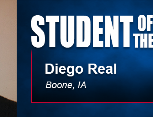 Military Career Led to Student of the Month Diego Real's Pursuit of Academy Bachelor's Degree