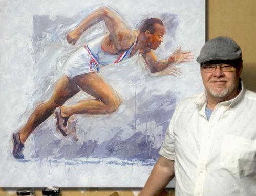 Academy Honoree Steven Lester Adds Jesse Owens Piece to Olympic-Themed Art Series