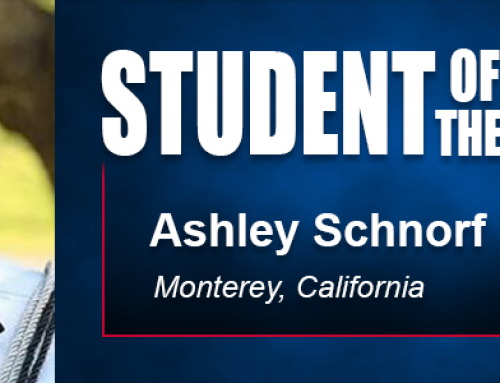 Student of the Month Ashley Schnorf Eyes Coaching Career in Professional Football