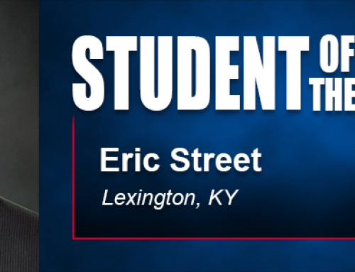 Academy Student of the Month Eric Street Proud of Recent Research Involving Military Veterans