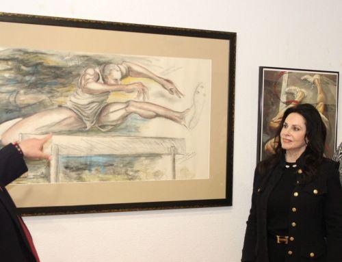 Art Committee Members View Original Ernie Barnes Pieces at ASAMA