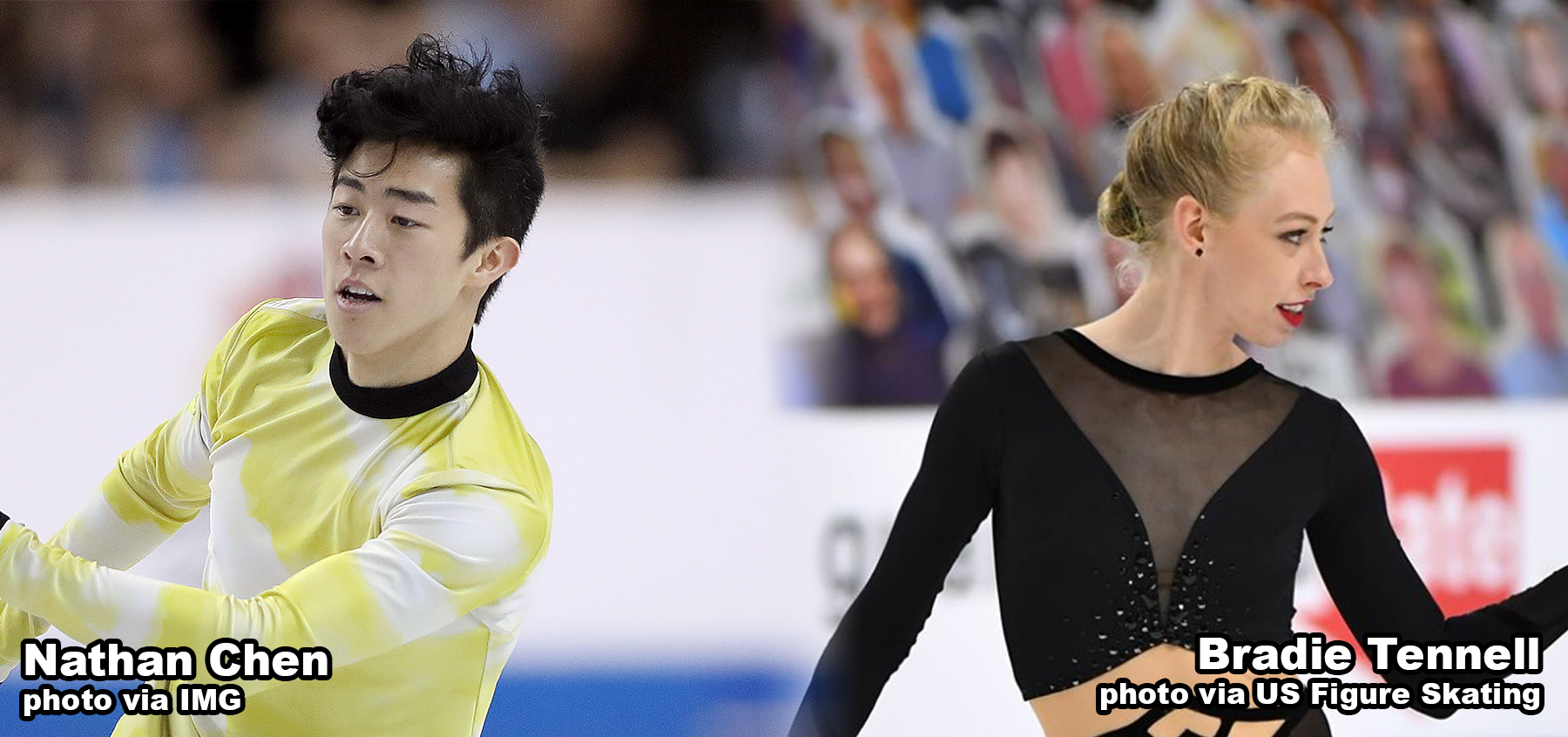 Nathan Chen and Bradie Tennell