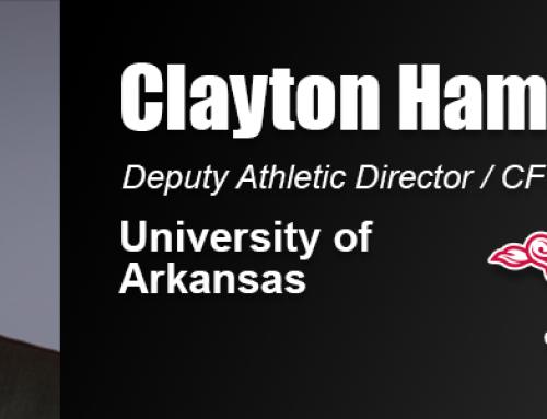 Clayton Hamilton Uses Academy Graduate Degree in Work Within University of Arkansas Athletics Department