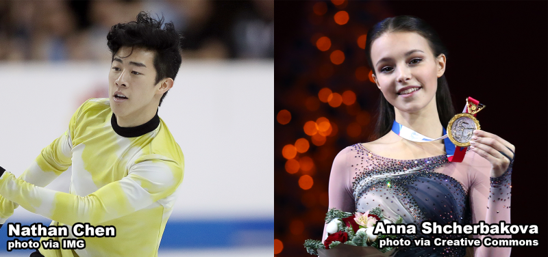 Nathan Chen and Anna Shcherbakova