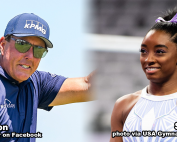 Phil Mickelson and Simone Biles