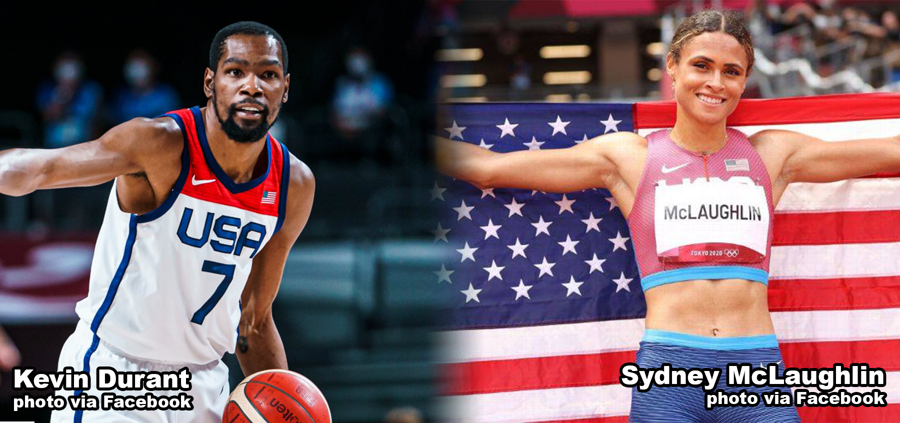 Kevin Durant and Sydney McLaughlin